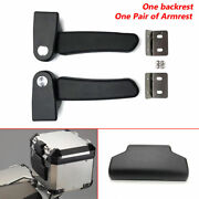 Motorcycle Tail Top Box Armrest + Backrest Cushion Pad For All Aluminum Rear Box