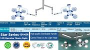 New Twin Examination Ot Light Surgery Theater Led Surgical Operation 4+4 Lamps