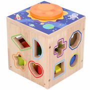 Wooden Geometric Blocks Toy Color Cognition Sorting Kid Intelligent Develop Toys