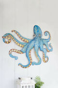 Kalalou A5650 Hand Hammered Recycled Metal Octopus Wall Hanging, One Size