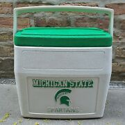 Used 1992 Coleman Collegiate Michigan State Spartans Camping Fishing Beer Cooler