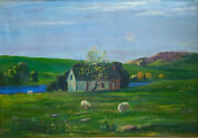 Ralph Wallace Burton Original Oil On Canvas Painting Group Of Seven Style