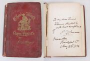 1854 Off Hand Talkings Crayon Book Signed By P.t. Barnum W/ Cdv Portrait