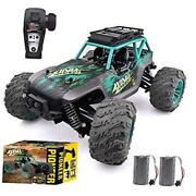 Remote Control Car, 114 Scale Christmas Large Rc Cars 36 Km/h Speed 4wd Green