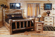Log Bedroom Set Free Shippingqueen Size Bed 22 Drawer Night Stands And Dresser