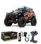 110 Scale Large Rc Rock Crawler - 4wd Off Road Rc Cars - Remote Red - Orange