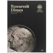 Roosevelt Dimes Number Two 1965 - 2004 Whitman Coin Folder 1939 Album, Book