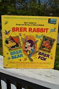 Rare 1970 Walt Disney Tales Of Uncle Remus 3907 Lp Brer Rabbit Record And Book