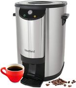 West Bend 57042 Stainless Steel Commercial Grade Coffee Urn Large Capacity Doubl