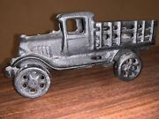 Vintage 1918 Cast Iron Model-t Ford Stake Truck