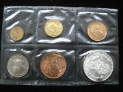 Mexico 1 5 20 25 50c 0.1 Silver Peso 1967 Bu Mint Holder Mexican 6 Coins Set 32