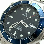 Omega Seamaster 300 Professional Menand039s Navy Large 2541.80 Watch Quartz Excellent