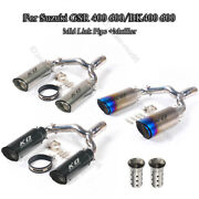 Motorcycle Gsr 600 400 Nk 400 Scooter Exhaust System Mid Pipe Mufflers Db Killer