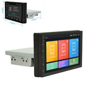1din 7in Car Radio Stereo Mp5 Player Adjustable Touch Screen 2+32g W/gps Nav