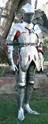 Medieval Vintage Knight Wearable Full Suit Of Armour W/ Closed Knight Helmet