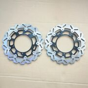 Vy 2pcs Front Brake Discs For Yamaha 2007-2012 Yzf R1 R6 2008 2009 2010 2011
