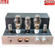 Oldchen Hi-fi Stereo Tube Amplifier 300b 9wx2 Single Ended Class A Amp Silver