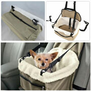 1×lookout Small Dog Car Seat Carrier Pet Safety Booster Seat Foldable Bed House