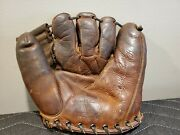 1950s Jim Busby Wilson Baseball Glove Ball Rh Five Finger Model A2970 Rare Mk