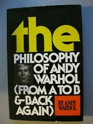 The Philosophy Of Andy Warhol With Signed Sketch, Hc, G