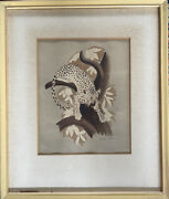 Africa Series Leopard Vintage Original Watercolor Painting Signed Trimmer