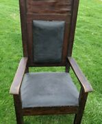 Antique De Moulin Bros And Company Lodge Supplies Masonic Lodge Chair Throne