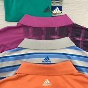 Lot Of 5 Menand039s Golf Polo Shirts Adidas Size Large