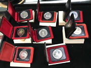 Lot 8 Canada Silver Dollars In Cases 1971 1972 1973 1974 1975 1976 1977 1978