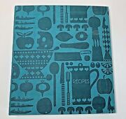 Hallmark Recipe Binder With Cards Sleeves Dividers Blue Simulated Leather New