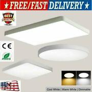 Led Ceiling Down Light Dimmable Ultra-thin Flush Mount Kitchen Lamp Home Fixture