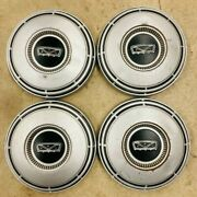 4x Vintage 68-73 Ford Truck Dog Dish Steel Hubcaps C7ta-1130-g Painted