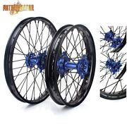 21+19 Front Rear Spoked Wheel Rims Hubs Set For Yamaha Yz450f Yz250f 2009-2013