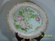 T And V-tresseman And Vogt Antique C1890's French Limoges Large Charger-signed Sm