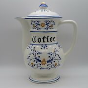 Vintage Ceramic Porcelain Heritage By Royal Sealy Blue Onion Coffee Pot With Lid