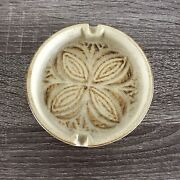 Vintage Pottery Craft Clover Ashtray Mid Century Modern Made In U.s.a.