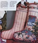 North Woods Christmas And Victorian Garland Stockings, Cross Stitch Pattern