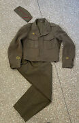Wwii Us Marine Shaef Ike Jacket Named Patches 36r With Pants And Cap