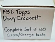 1956 Topps Davy Crockett Complete Set 160 Green And Orange Cards