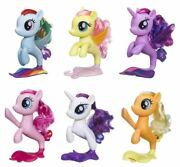 My Little Pony Mermaid Seapony Collection 6 Pack Flutter Rarity Dash Pinkie Nib