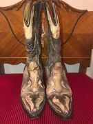 Corral Vintage Embroidered Cowboy Boots Womens Size 7b