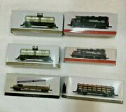 Lot Of 6 Southern Pacific N Scale Train Cars High Speed Metal Products W/ Boxes