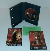 Rome Total War Gold Edition Pc Cd-rom 2006 Game Cib 4-discs And 2 Manuals