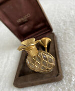 Vintage Mini Gold Plated Nina Ricci Paris Boxed Empty Perfume Bottle And Funnel