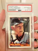 Sparky Anderson 1992 Topps 381 Signed Autographed Card Psa Dna Slabbed