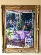 Beautiful Framed Signed Henry Gordon Large Original Oil Painting On Canvas