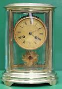 Early Antique French Oval Four Glass Clock
