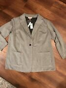 Philosophy Woman's 2x Suit Jacket. Nwt. 98 Poly Button Pockets 1/2 Price Sale