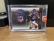 2010 Plates And Patches Adrian Peterson Logo Shield 1/1 Prime Gu Vikings Sooners