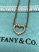 And Co Small Open Diamond Heart Pendant K18 Pink Gold 16inch
