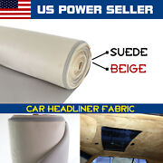 Suede Headliner Fabric W/foam Roof Sagging Replace 80x60 Beige Car Upholstery